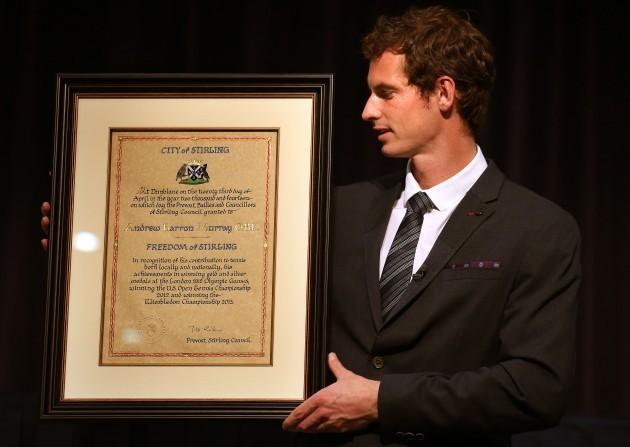 Andy Murray honoured
