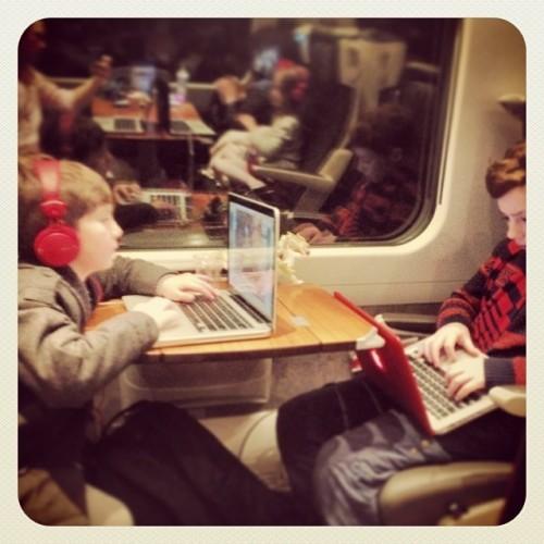 Italian holiday train travel, family of 7