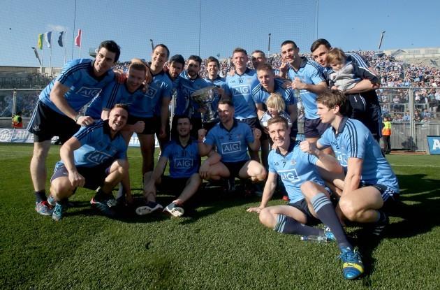 The Dublin team celebrate