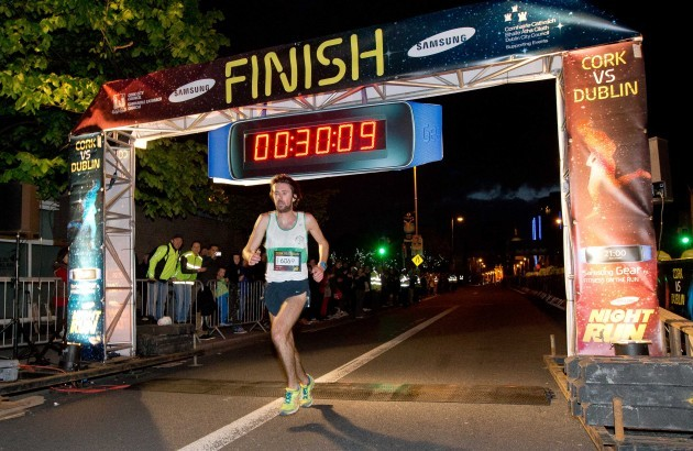 Mick Clohissey is the first Irishman home in 2nd place