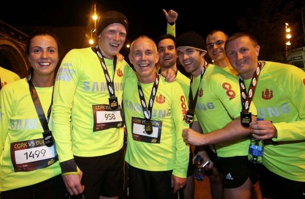 Today FM DJ Ray D'Arcy with competitors after the race