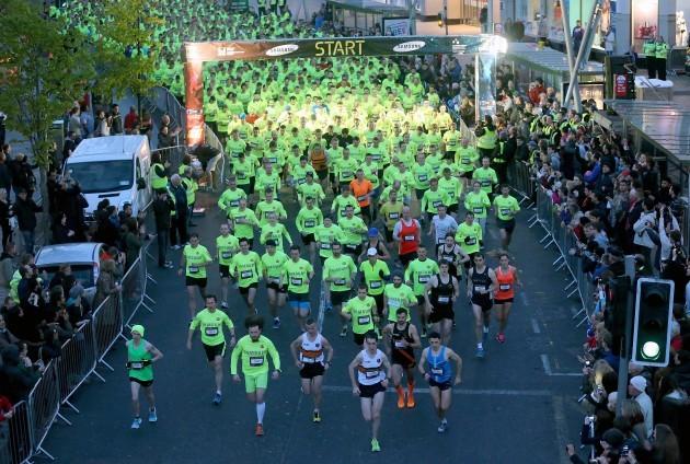 Competitors start the race on Patrick's Street