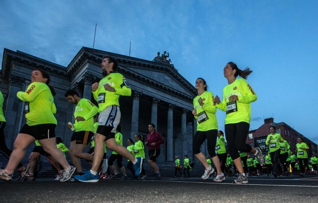 General view as competitors pass the Cork Courthouse
