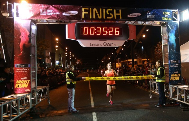 Orla Drumm is the first woman to cross the finish line