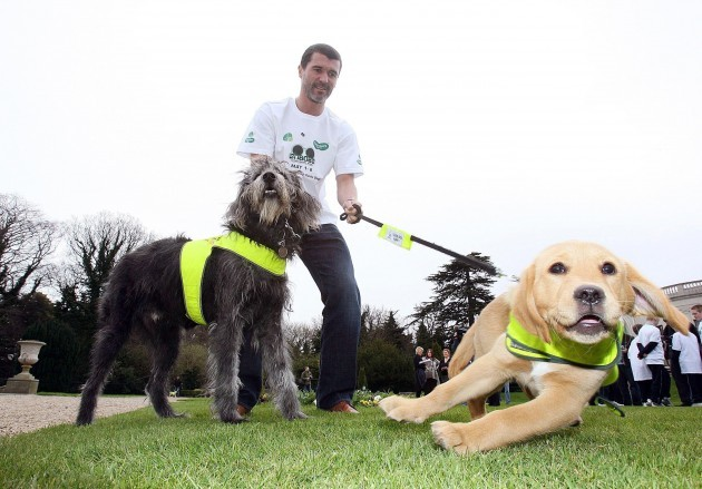 Roy Keane launches Irish Guide Dogs for the Blind's 2007 fundraising campaign