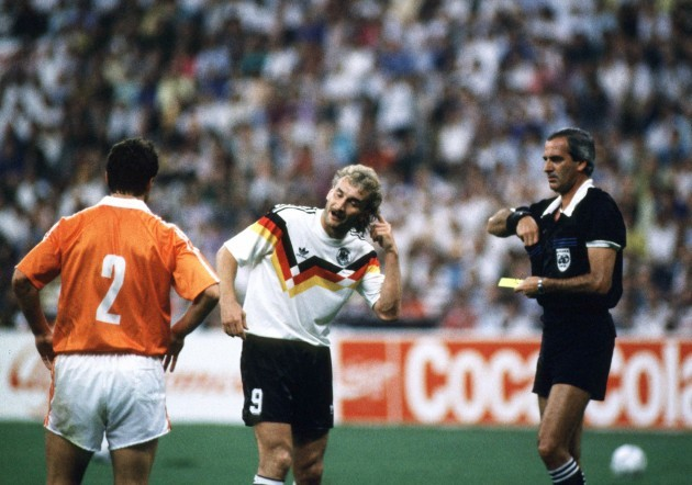 Soccer - World Cup Italia 90 - Second Round - West Germany v Netherlands