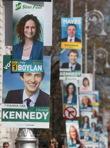 Campaign Posters. Pictured Campaign Po