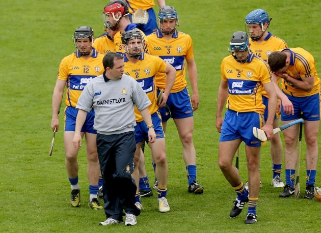 Davy Fitzgerald with his team before the game