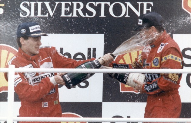 England Ayrton Senna and Nigel Mansell