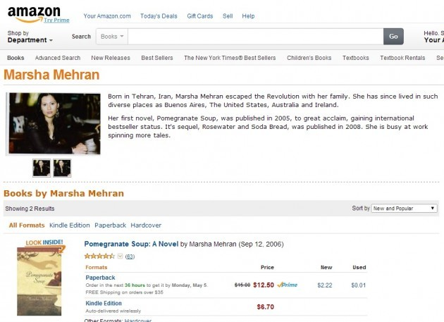 marsha mehran amazon