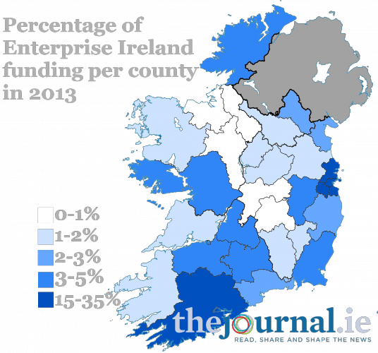 Enterprise Ireland Map