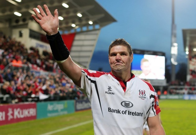 Johann Muller says farewell to the fans at Ravenhill
