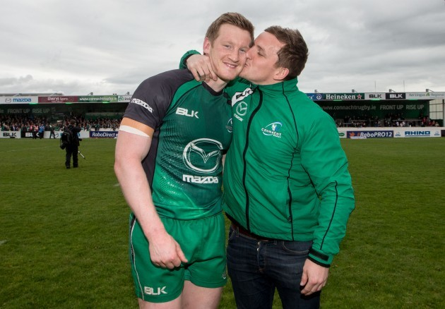 Eoin Griffin and Paul O'Donohoe after the game