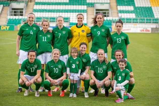 The Irish team pose for a picture