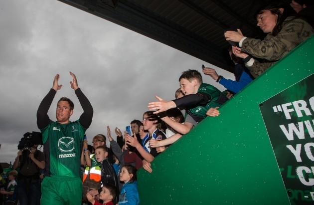 Gavin Duffy leaves the field