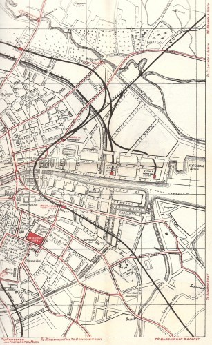 Dublin_East_&_Ctr_w_Roads_&_Trams_w_Termini_inc_centre_pt_Nelsons_Pillar