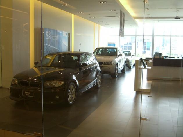 BMW dealership inside of Siam Paragon