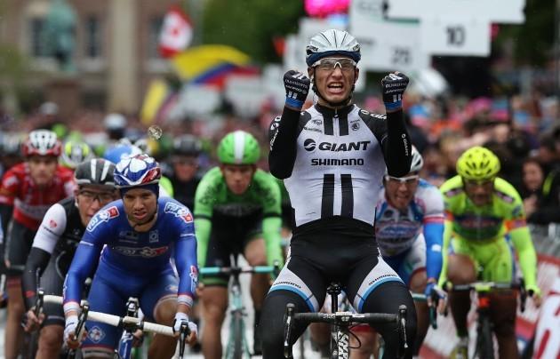 Marcel Kittel celebrates winning