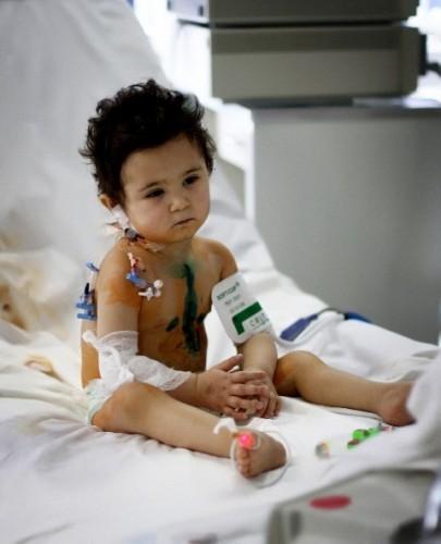 Pavel after life-saving cardiac surgery