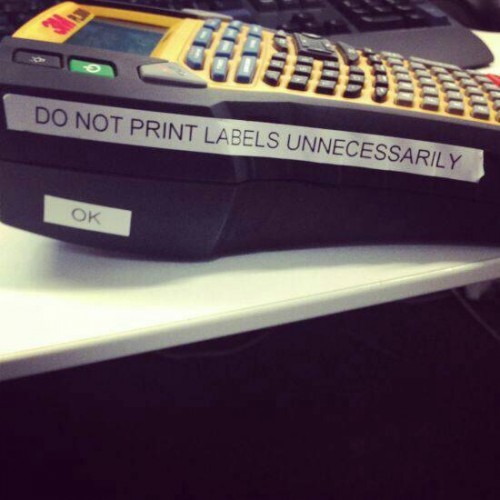 Do not print labels unnecessarily - Imgur