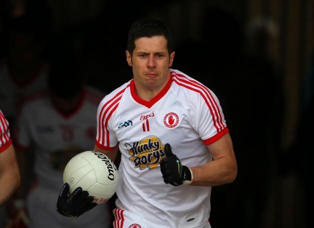 Sean Cavanagh leads out the team