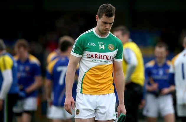 Niall McNamee dejected