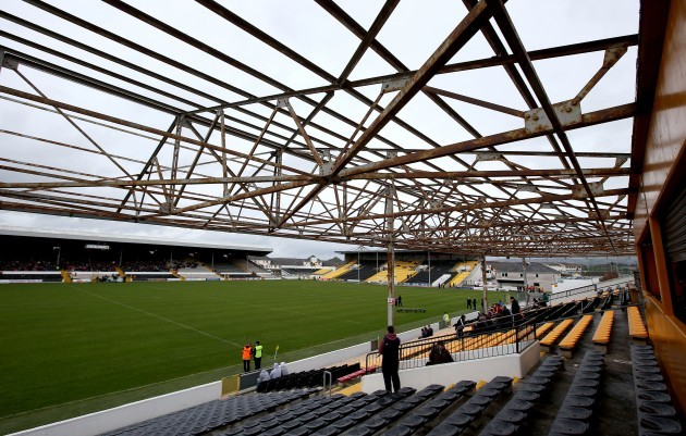 Damaged stand on Nowlan park