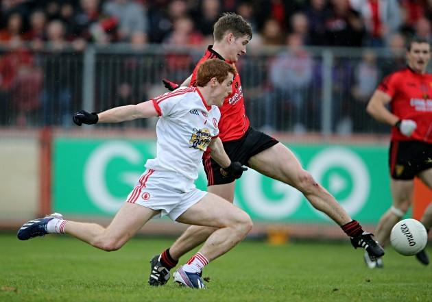 Conor Maginn scores a goal