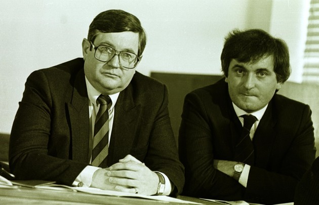 RAY BURKE WITH BERTIE AHERN