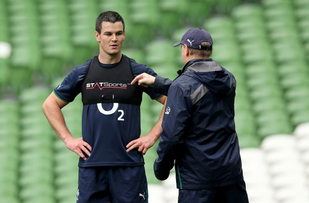 Jonathan Sexton speaks with Joe Schmidt 20/5//2014