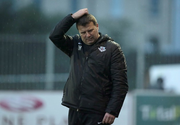 Drogheda United manager Robbie Horgan during the game