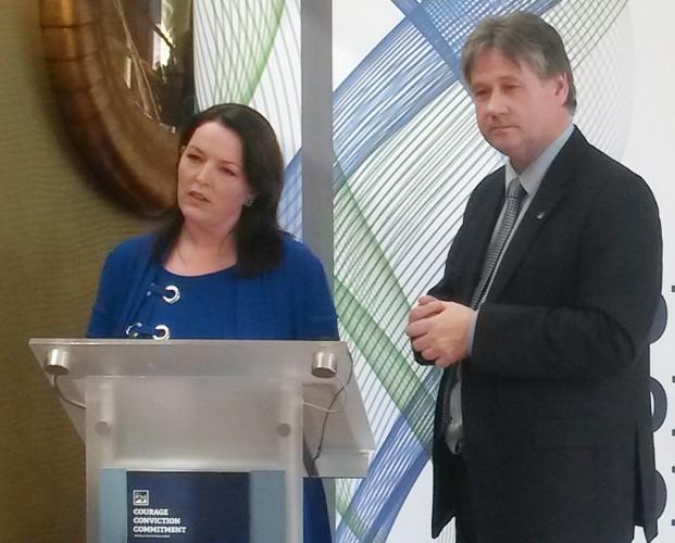 NI21's European election manifesto launch - Belfast