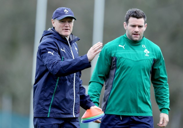 Joe Schmidt with Fergus McFadden
