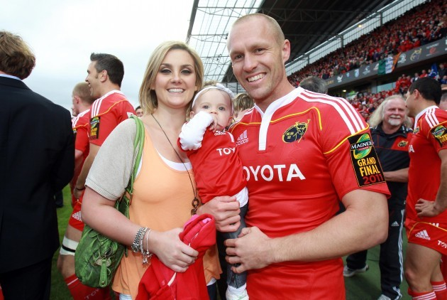 Paul Warwick with his family