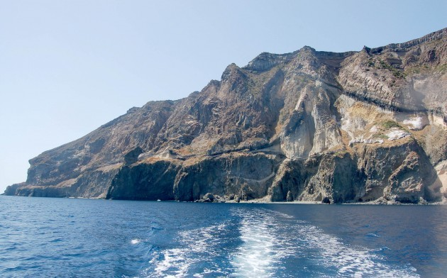 SpectacularSea Cliffs at Pantelleria volcano island
