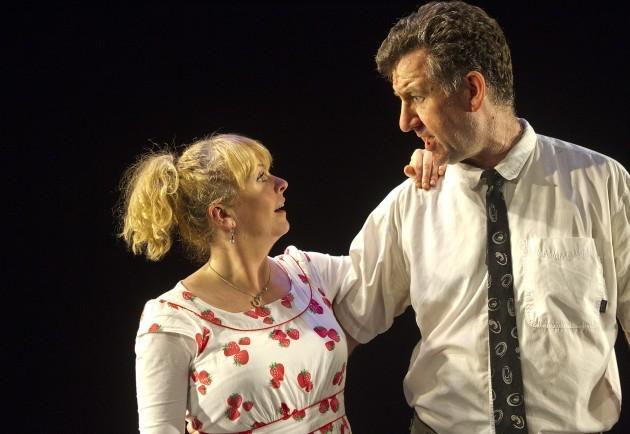 Steve Blount and Janet Moran in Fishamble's Swing, photo by Pat Redmond 6