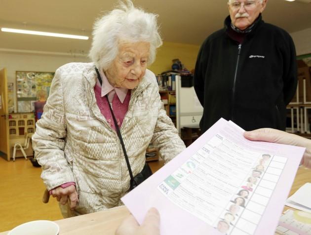 Europan and local polling day. 104 yea
