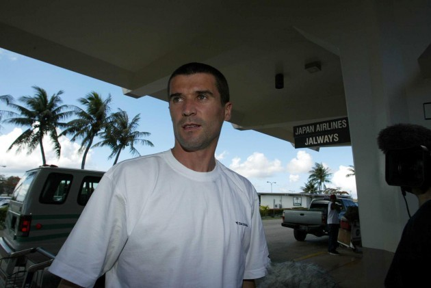 Roy Keane at Saipan airport