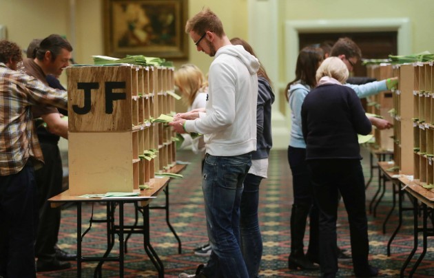 Dublin Bye-election count. Count staff