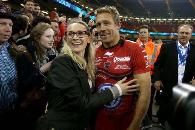 Jonny Wilkinson and his wife Shelley