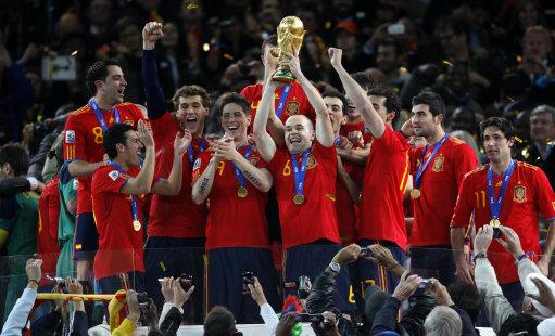Soccer - 2010 FIFA World Cup South Africa - Final - Netherlands v Spain - Soccer City Stadium