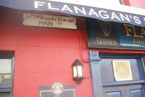 Flanagan's Bar on An P Shráid Main St. Lahinch