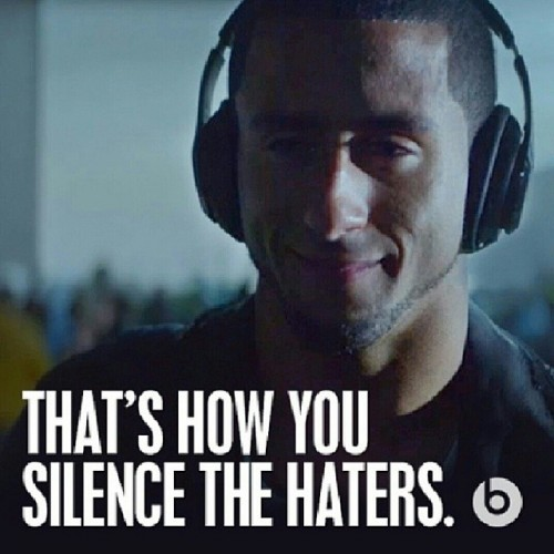 Thanks to @beatsbydre for dropping the dope commercial and thanks to all the 49er faithful for standing behind us, I got nothin but love for yall! #HearWhatYouWant #49erFaithful