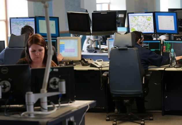 Garda Communications Centre. Gardai de