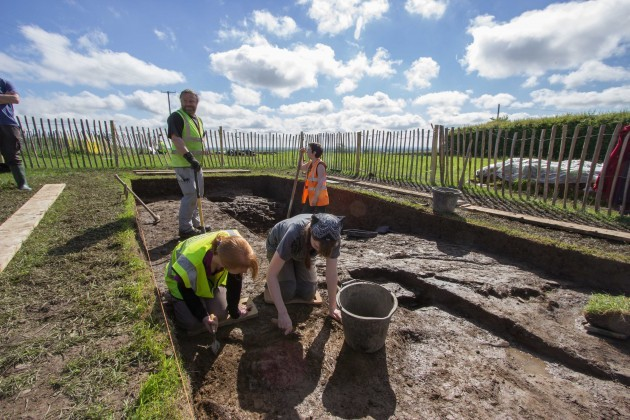 Investigating trench 3