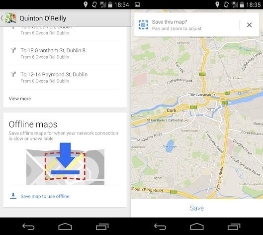 Google Maps save map