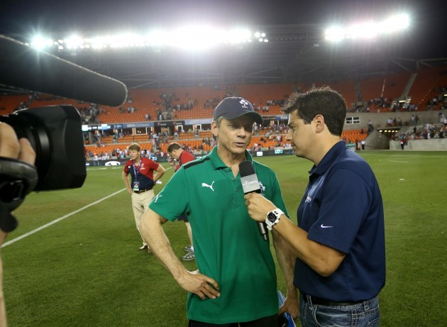Ireland's Les Kiss is interviewed