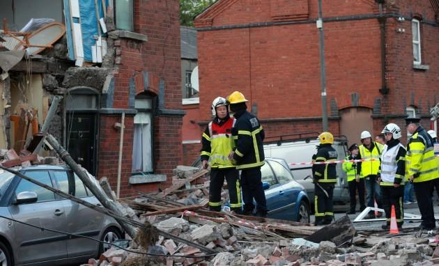 Gas explosion Dublin. Emergency servic