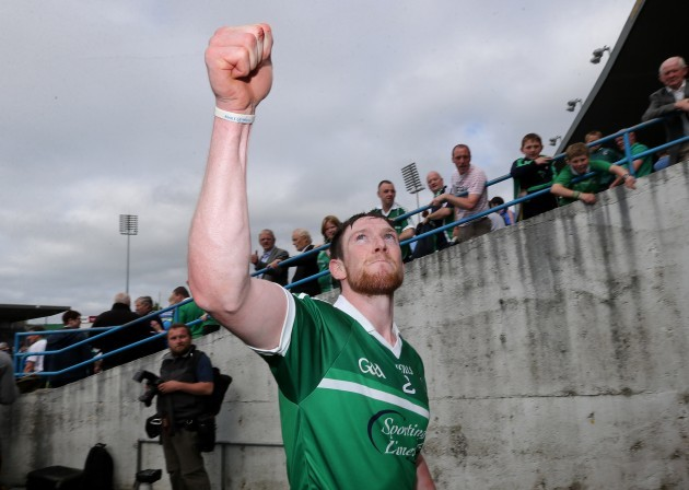 Seamus Hickey celebrates after the game