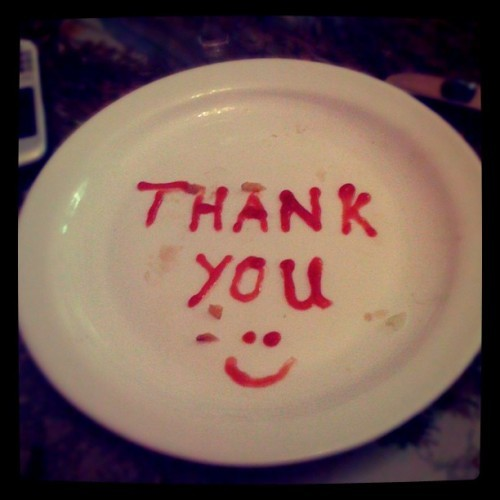 Leaving a little something for the waitress 